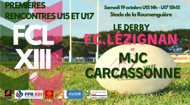 U15 U17 FCL XIII vs MJC Carcassonne